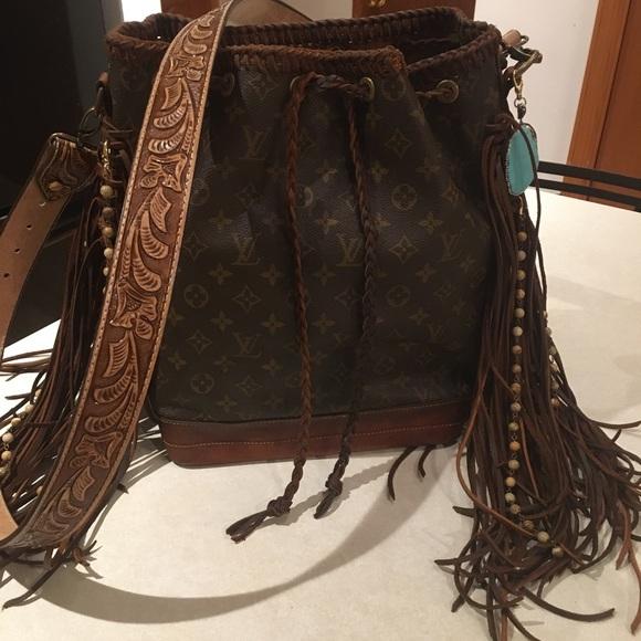 Louis Vuitton Handbags - SOLD—Vintage Louis Vuitton Boho fringe Noe GM